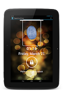 Screenshot of Fingerprint lockscreen