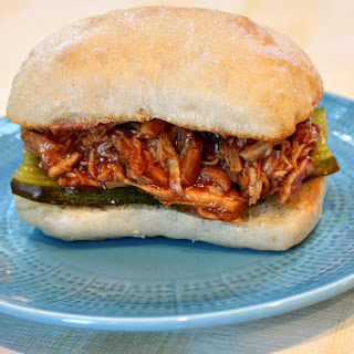 Pulled Barbecued Chicken Sandwiches