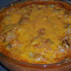 Tomato Cheesy Cabbage and Mushroom Casserole