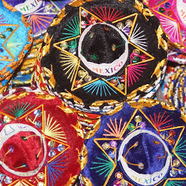 Sombreros for Sale by Susan Fries - Artistic Objects Clothing & Accessories ( cancun, closeup images, spmbrero, clothing, mexican, accessories, hat,  )