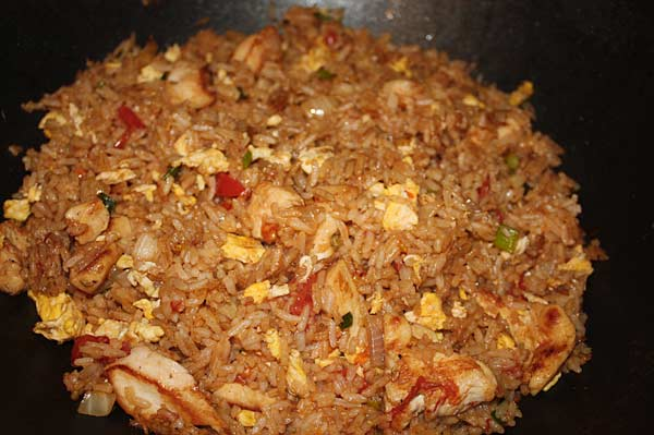 The key to making perfect fried rice is using cold leftover rice.