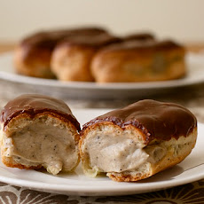 Éclairs with Mocha Pastry Cream