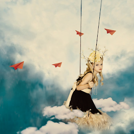 FLY by Beth Schneckenburger - Digital Art People ( clouds, sky, dream, fly, beauty )