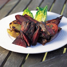 Barbecued Leg Of Lamb