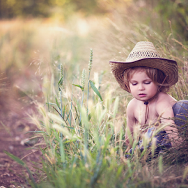 Peaceful by Chinchilla  Photography - Babies & Children Toddlers ( field, calm, england, peaceful, little boy, outdoors, summer, cute, toddler, chinchillaphotography )