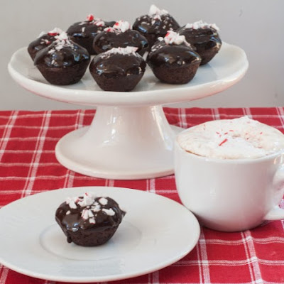 Vegan Chocolate Mini Cupcakes with Chocolate Peppermint Ganache Glaze