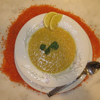Lemony Red Lentil Soup with Coriander, Cumin & Garlic (Addes Soup)