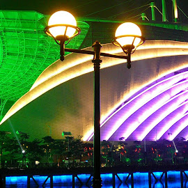 BRIGHT LIGHTINGS DISPLAY OF ASIAN GAMES STADIUM FROM GUANGZHOU,CHINA... by Mikito Su - Novices Only Street & Candid