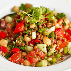 Back On Track Wheat Berry and Bean Salad