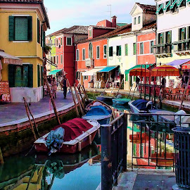 Waterways of Burano by Lux Aeterna - Instagram & Mobile Android