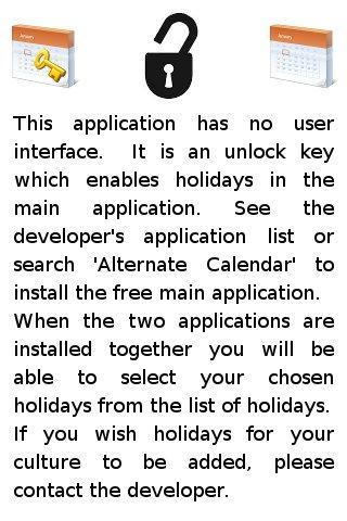 Alternate Calendar Holidays