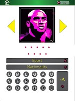 Screenshot of Famous Athletes PopArt Quiz