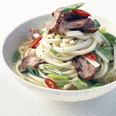 Hot & Sour Duck Noodle Soup With Baby Pak Choi