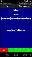Screenshot of Spanish Verb Trainer