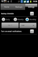 Screenshot of inDefend Mobile Backup