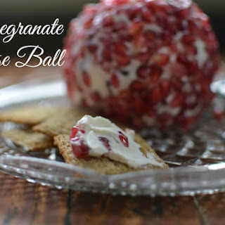 Holiday Pomegranate Cheese Ball