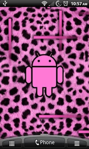 Pink Cheetah Live Wallpaper