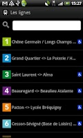 Screenshot of Go2 Rennes (bus, vélo, métro)