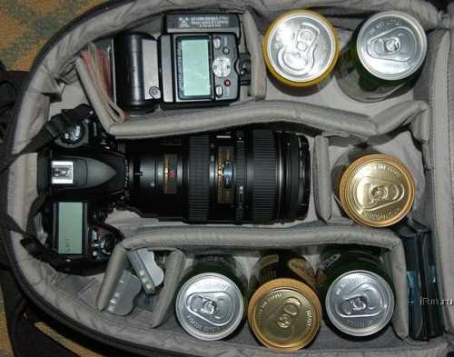 Inside Photographer Bags