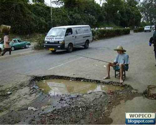 Fishing in the Street