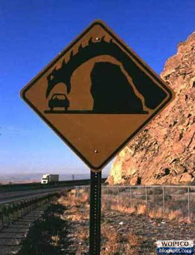 Moster Warning Sign