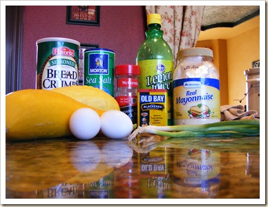 Zucchini No-Crab Cakes Ingr