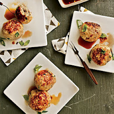 Basil Chicken Meatballs with Ponzu Sauce