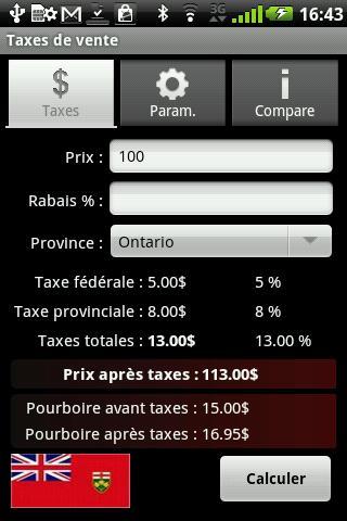 Taxes de vente