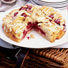Raspberry And Almond Croissant Cake