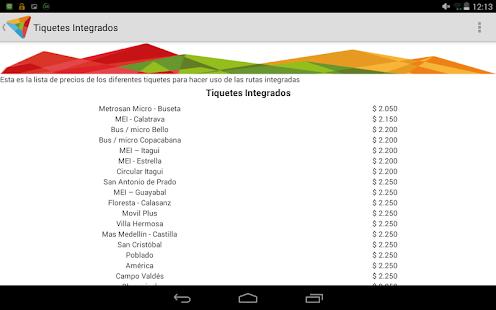 Rutas metro medellin apk for bluestacks download android for Lista de precios subway