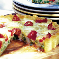 Garden Vegetable & Goat's Cheese Quiche