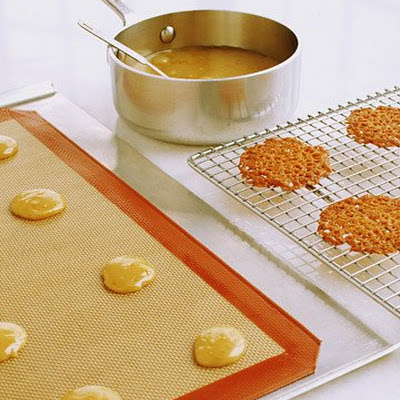 Orange Lace Cookies