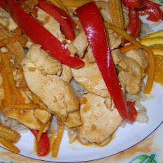 Chicken and Red Pepper Stir Fry