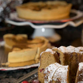 Have A Slice by Lynn  Fleishman - Food & Drink Cooking & Baking ( desserts, cake, holiday baking, holidays, yummy, bundt cake, delicious, cranberries, pumpkin pie, dessert )