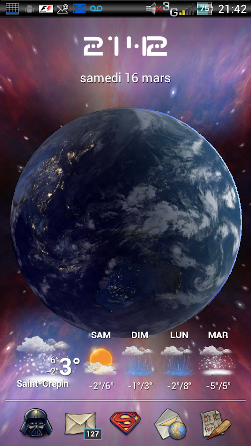 Earth Live Wallpaper HD Screenshot