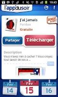 Screenshot of l'app du soir