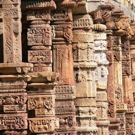 Architectural Details on the pillars of Qutub Minar complex, New Delhi, India by Nirmal Murarka - Buildings & Architecture Architectural Detail