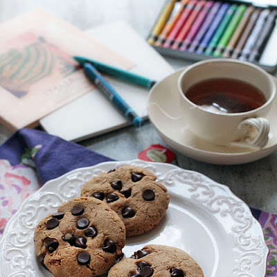 Karina's Crunchy Almond Butter Chocolate Chip Cookies