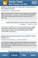 Screenshot of Adobe Feeds Mobile