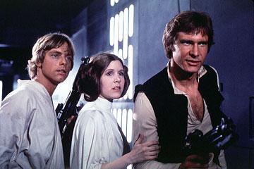 Luke, Leia e Solo