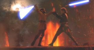 Obi-Wan enfrenta Anakin