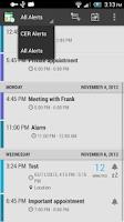 Screenshot of Calendar Event Reminder (CER)