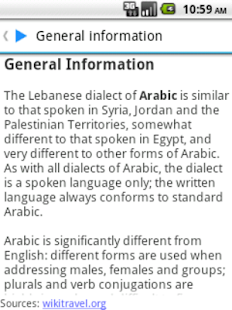 Learn Arabic Lebanese - screenshot