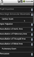 Screenshot of Smart Medical Apps - H&P