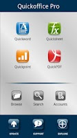 Screenshot of Quickoffice Pro Trial