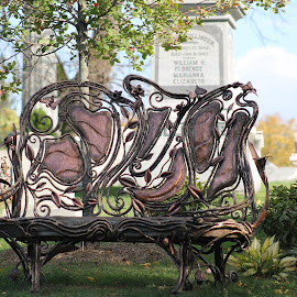Best bench ever  by Anna Tripodi - Artistic Objects Furniture ( marble, bench, copper, awesome, beautiful, public, furniture, object )