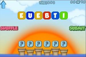 Screenshot of Scrambled Words Game!
