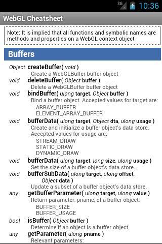 WebGL Cheatsheet