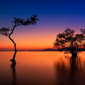 by Charliemagne Unggay - Landscapes Waterscapes ( , blue, orange. color )