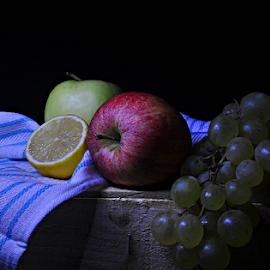 FRUITS  by Angelito Cortez - Food & Drink Fruits & Vegetables ( grapes, still life, apple, fruits, lemon )